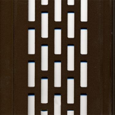 rubbed bronze perforated aluminum panels