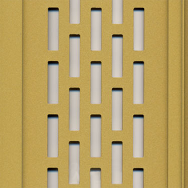gold perforated aluminum panels