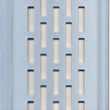 silver perforated aluminum panels