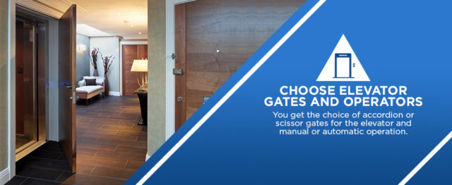 choose the elevator gates and operators for your home elevator