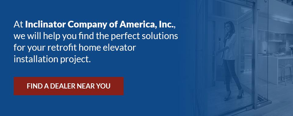 find a dealer to retrofit your home elevator