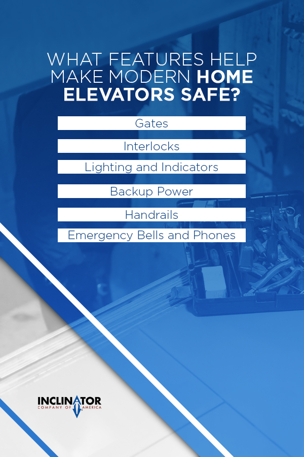 safety features in home elevators