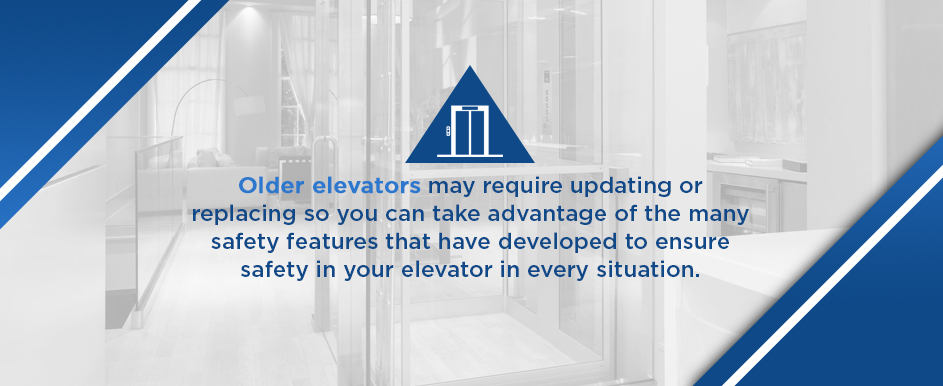 update safety features in older home elevators