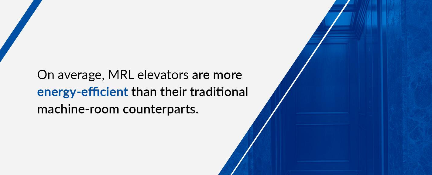 MRL elevator models