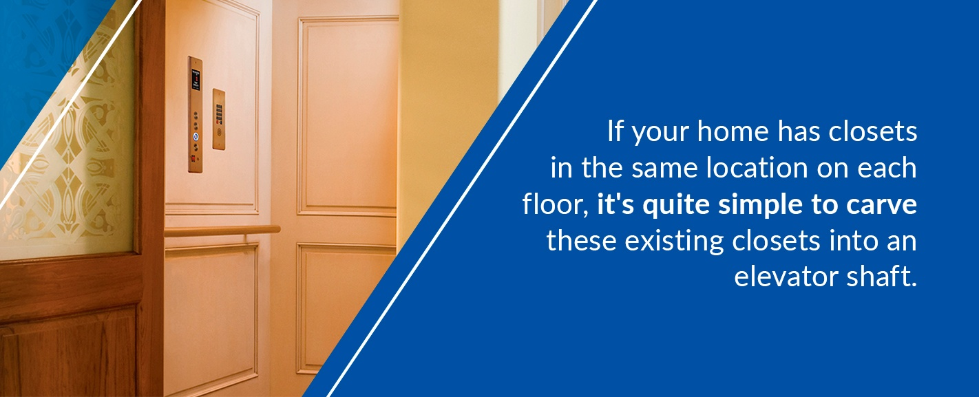 plan where an elevator will go in your home