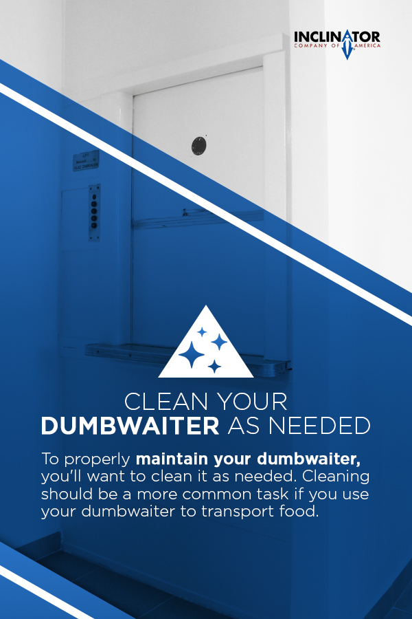 clean your dumbwaiter